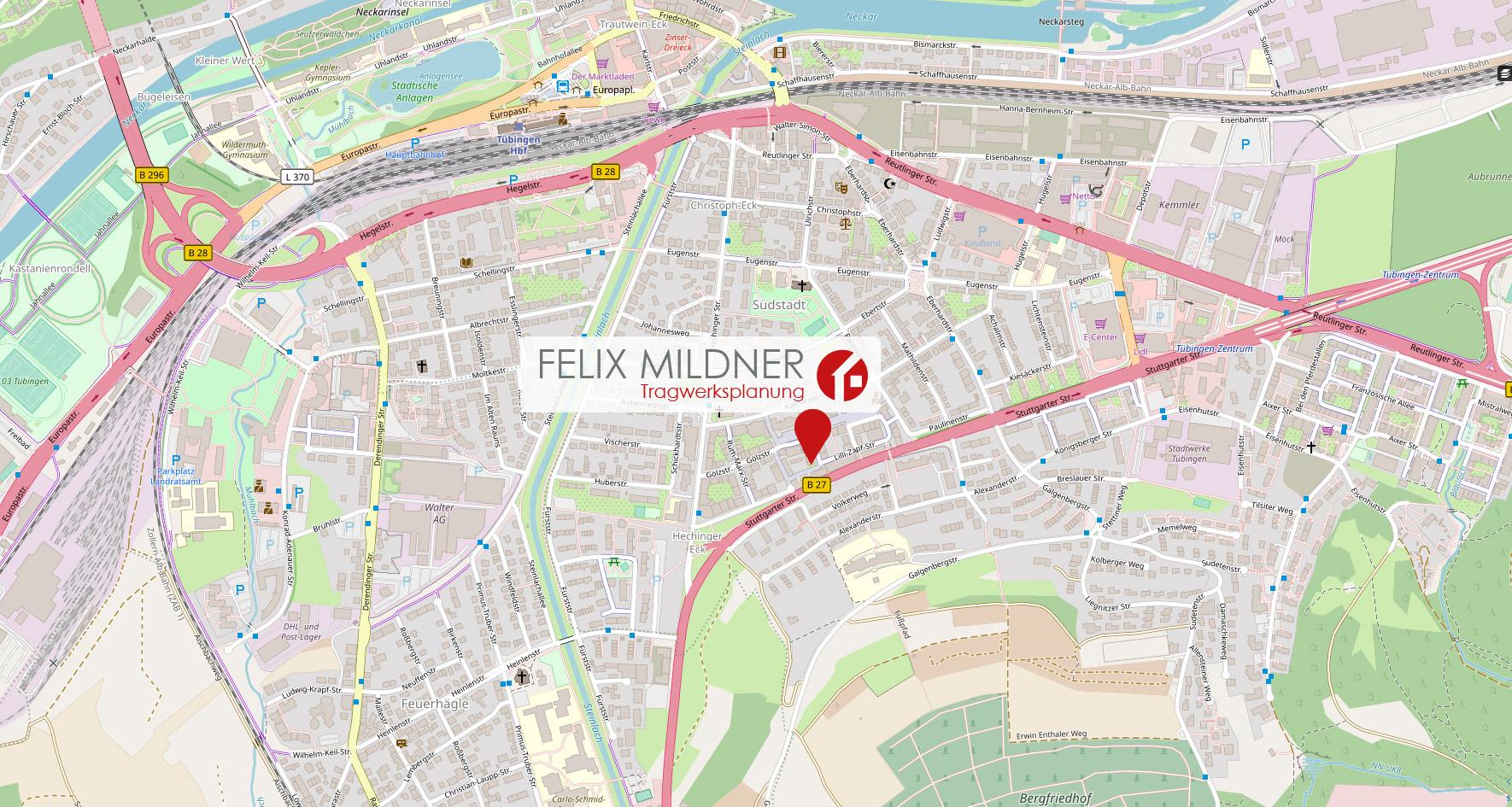 el Bilger Mildner- Ingenieure Tübingen - Google Maps Anfahrt